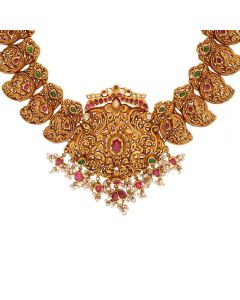 556VA194 | Vaibhav Jewellers Temple Necklace 556VA194