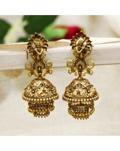 559VA317 | Vaibhav Jewellers 22K Temple Krishna Jhumki Earrings 559VA317