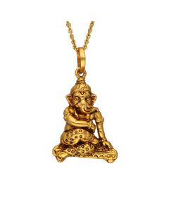 561VA182 | Lord Ganesh Antique Gold Pendant 561VA182