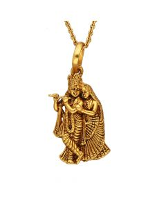 561VA185 | Antique Gold Radha Krishna Pendant 561VA185