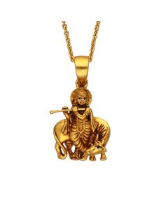 561VA186 | Antique Gold Krishna Pendant 561VA186
