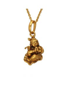 561VA187 | Antique Gold Chinni Krishna Pendant 561VA187