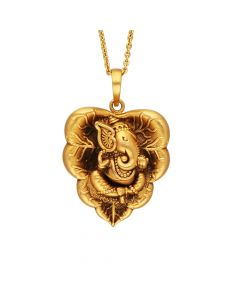 561VA193 | Antique Ganesha Gold Pendant 561VA193