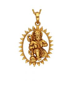 561VA197 | Hanuaman Antique Gold Pendant  561VA197
