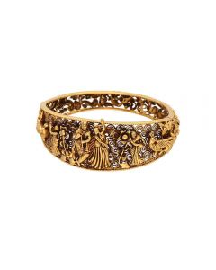 562VA42 | Vaibhav Jewellers 22K Antique Gold Temple Bracelet 562VA42