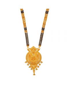 60VH9981 | Vaibhav Jewellers 22K Plain Gold Long Mangalsutra 60VH9981