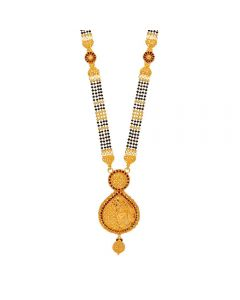 60VH9995 | Vaibhav Jewellers 22K Plain Gold Long Mangalsutra 60VH9995