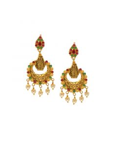74VI7069 | 22Kt Semi Precious Chandinin Jhumkies   Hangings 74VI7069