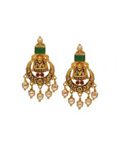 74VJ893 | Vaibhav Jewellers 22k Gold Chandini Jhumkies 74VJ893