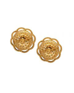 77VH8658 | Vaibhav Jewellers 22K Plain Gold Stud Earrings 77VH8658
