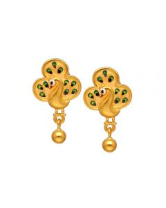 80VG6545 | Vaibhav Jewellers 22K Casting Gold Hanging Earrings 80VG6545