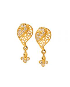 80VG6554 | Vaibhav Jewellers 22K Casting Gold Hanging Earrings 80VG6554
