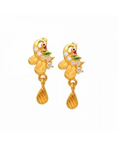 80VG6558 | Vaibhav Jewellers 22K Casting Gold Hanging Earrings 80VG6558