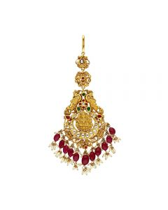 88VG195 | Vaibhav Jewellers 22k Antique Gold Maang Tikka 88VG195