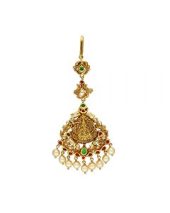88VG224 | Vaibhav Jewellers 22k Antique Gold Maang Tikka 88VG224