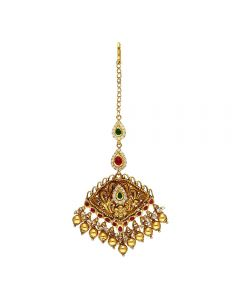 88VG228 | Vaibhav Jewellers 22k Antique Gold Maang Tikka 88VG228