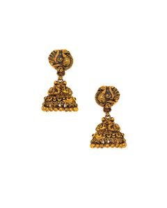 vbj-a-96b | Antique Mayurakshi Gold Jhumkis