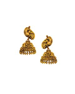 vbj-a-96g | Antique Empress Gold Jhumkis