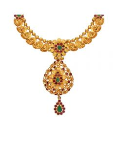 9VI8844 | Vaibhav Jewellers 22K Plain Gold Locket Model Necklace9VI8844