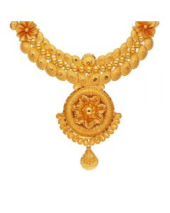9VJ492 | Vaibhav Jewellers 22K Plain Gold Fancy Necklace 9VJ492