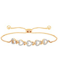 JBF04610H | Hearty Trail Diamond Bracelet