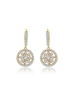 JEG008307 | Circular Cirno Diamond Earrings