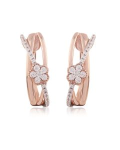 JEG07490Q | Papery Duet Hugs Diamond Earrings