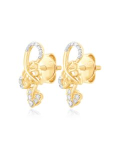 JEN25650Q | Twining Love Diamond Earrings