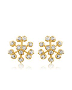 JES223410 | Shining Cluster Diamond Studs Earring