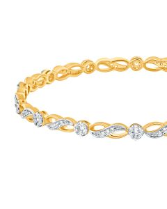 JGS00291E | Infinity Studded Diamond Bangle