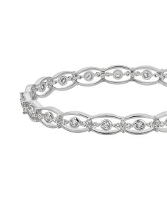 JGS003230 | Seamless Curves Diamond Bangle