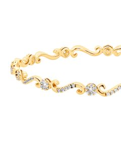 JGS00581E | Stylish S-Cross Diamond Bangle