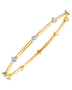JGS078710 | Sparkling Stars Diamond Bangle
