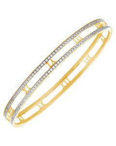 JGS109217 | Roman Allure Diamond Bangle