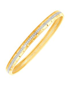 JGS112410 | Broad and Bountiful Diamond Bangles