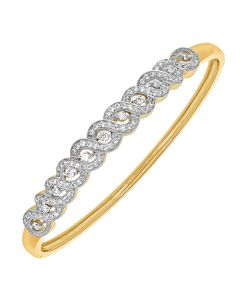 JOF00731B | Braided Beauty Diamond Bangle