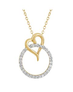 JPN34760Q | Circle Of Life Diamond Heart