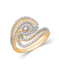JRA152210 | Snail Sparkler Diamond Ring