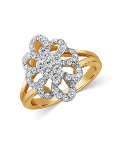 JRA54380H | Swirl Cluster Diamond Ring
