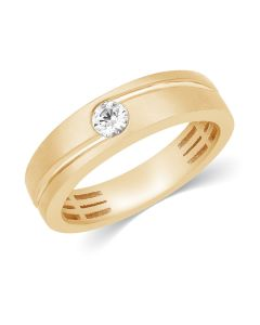 JRM64350F | Cutwork Solitaire Diamond Band Ring