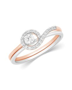 JRS17890Q | Twin-Tone Diamond Diamond Ring