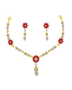 VBJ-NS-2334 | Chime Cz Gold Necklace Set