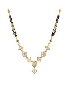 SJ1012 | 22K Fancy Gold Mangalsutra SJ1012