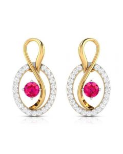 VBJ-8518Ruby | Vaibhav Jewellers 18K  Diamond Danglers Earrings VBJ-8518Ruby