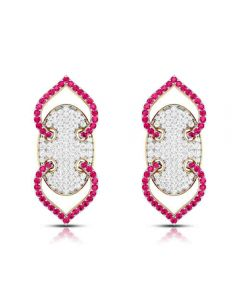 VBJ-ER8521 | Vaibhav Jewellers 18k Diamond Fancy Stud Earrings VBJ-ER-8521