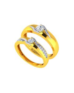 VCR736 | The Regal Solitaire Gold Bands
