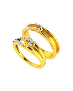 VCR742 | The Holy Clasp Couple Gold Bands