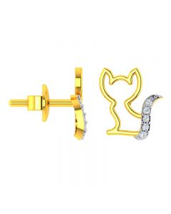 VKE-937 | 18KT Yellow Gold Kids Studded Earrings VKE-937