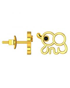 VKE-938 | 14KT Yellow Gold Kids Stud Earrings VKE-938
