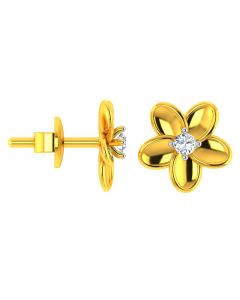 VKE-942 | 18KT Yellow Gold Kids Studded Earrings VKE-942